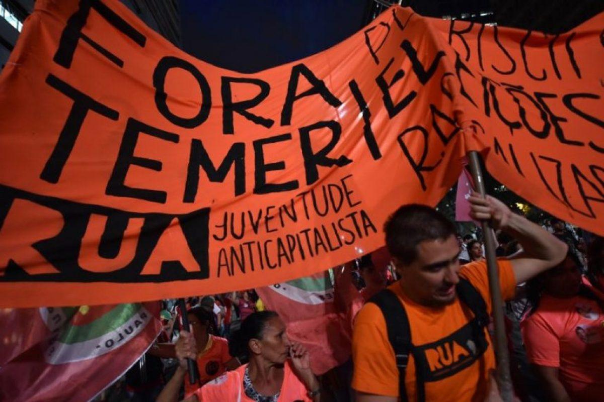 En las que se pedía la destitutición de Michel Temer Foto:AFP. Imagen Por:
