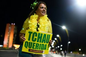 También hubo manifestaciones en contra de Dilma Rousseff Foto:AFP. Imagen Por: