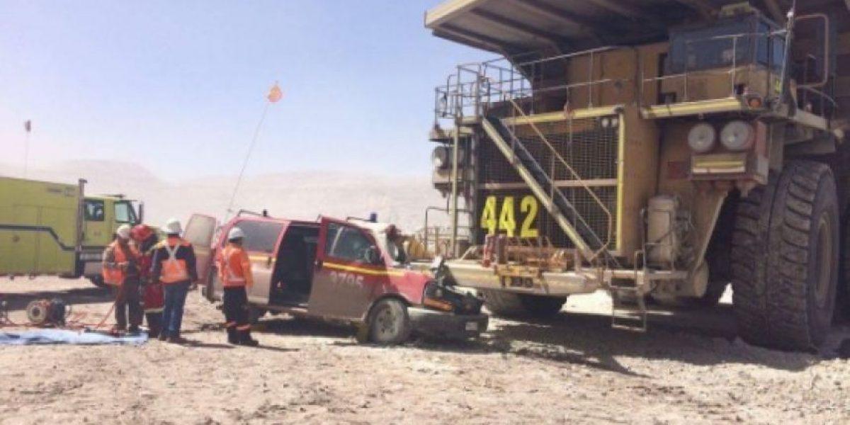 Accidente de tránsito al interior de mina Chuquicamata deja dos fallecidos