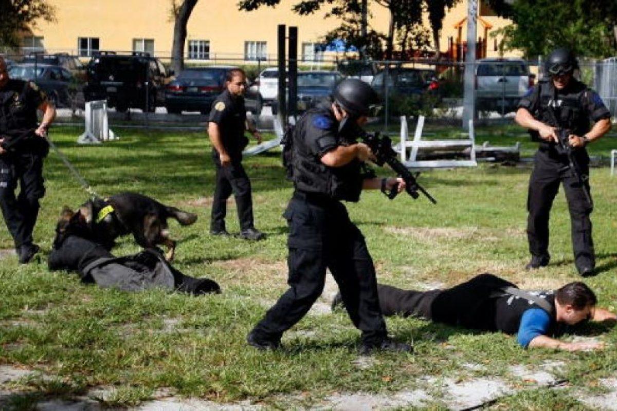 La mayoría de los perros policía son machos, sin castrar para que mantengan su agresividad natural Foto:Getty Images. Imagen Por: