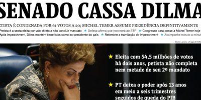 Las reacciones de los medios brasileños a la destitución de Dilma Rousseff