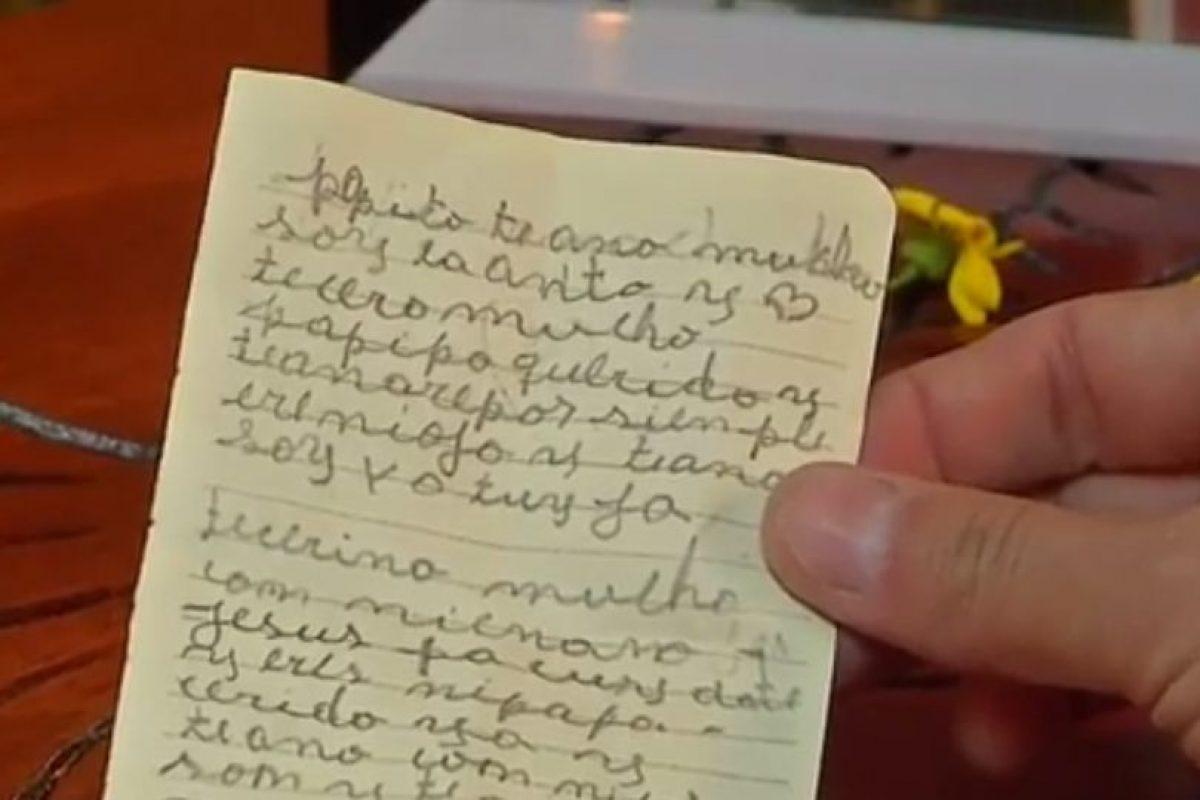 La carta de su hija. Foto:Reproducción / TVN. Imagen Por: