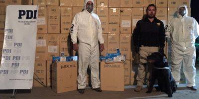 PDI incauta $600 millones en cigarrillos de contrabando provenientes de la India