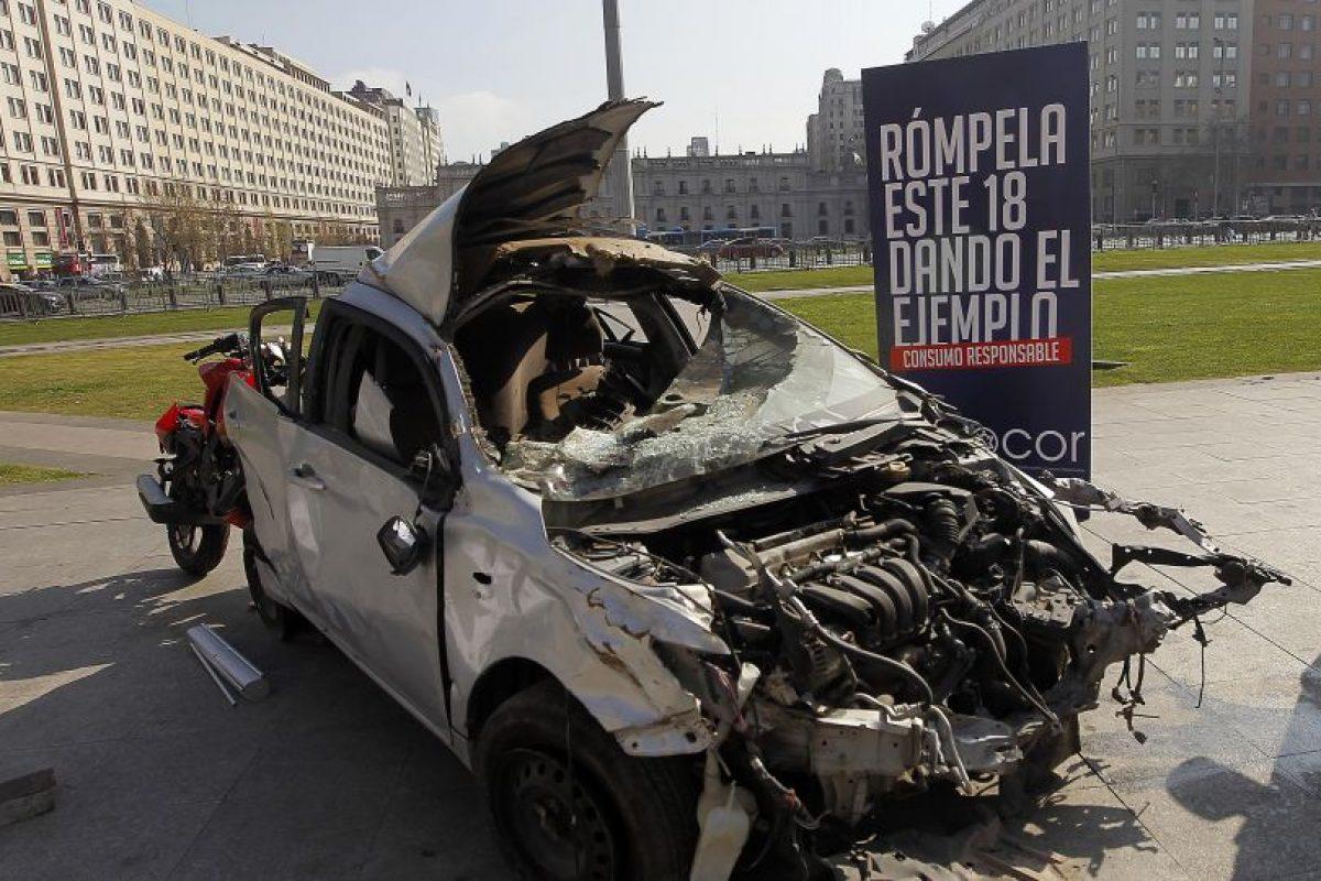 Autoridades lanzan campaña para evitar accidentes en Fiestas Patrias Foto:Agencia Uno. Imagen Por: