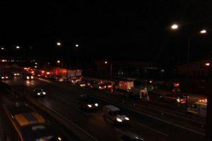El accidente provocó una fuerte congestión en la ruta. Foto:Rodrigo Fuentes / Publimetro. Imagen Por: