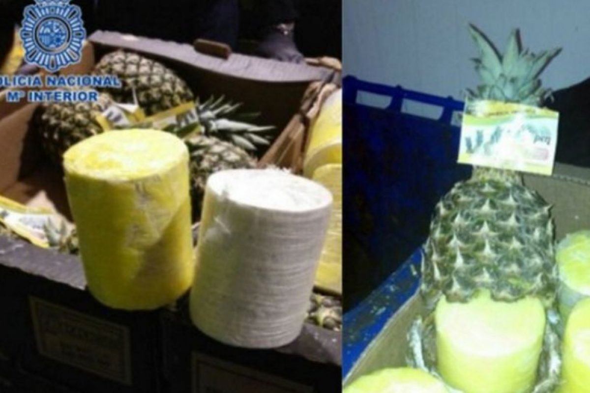 En distintos países de Europa han incautado cargamentos de frutas importadas, rellenas con distintos narcoticos. Entre ellas piñas, plátanos y zanahorias. Foto:Policía de Costa Rica. Imagen Por: