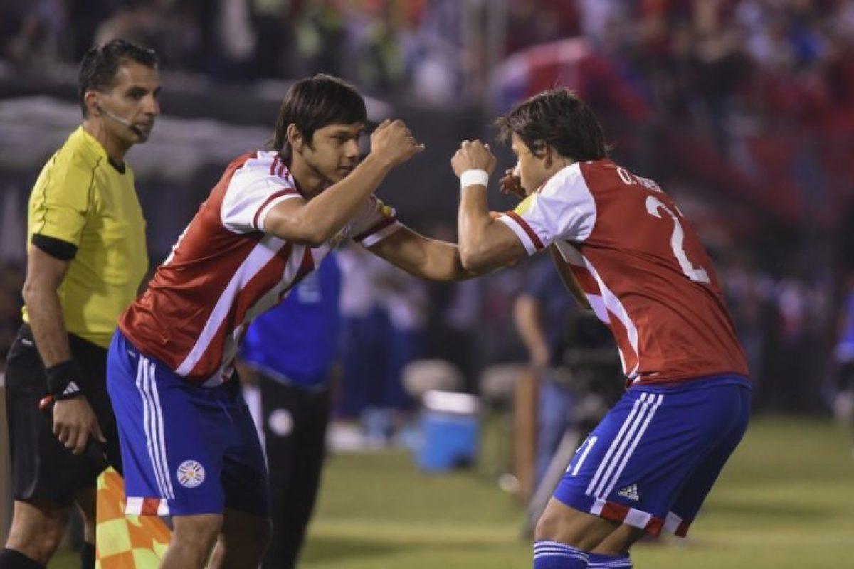 """El festejo de """"Los hermanos Korioto guaraníes"""" se hizo viral Foto:AFP. Imagen Por:"""