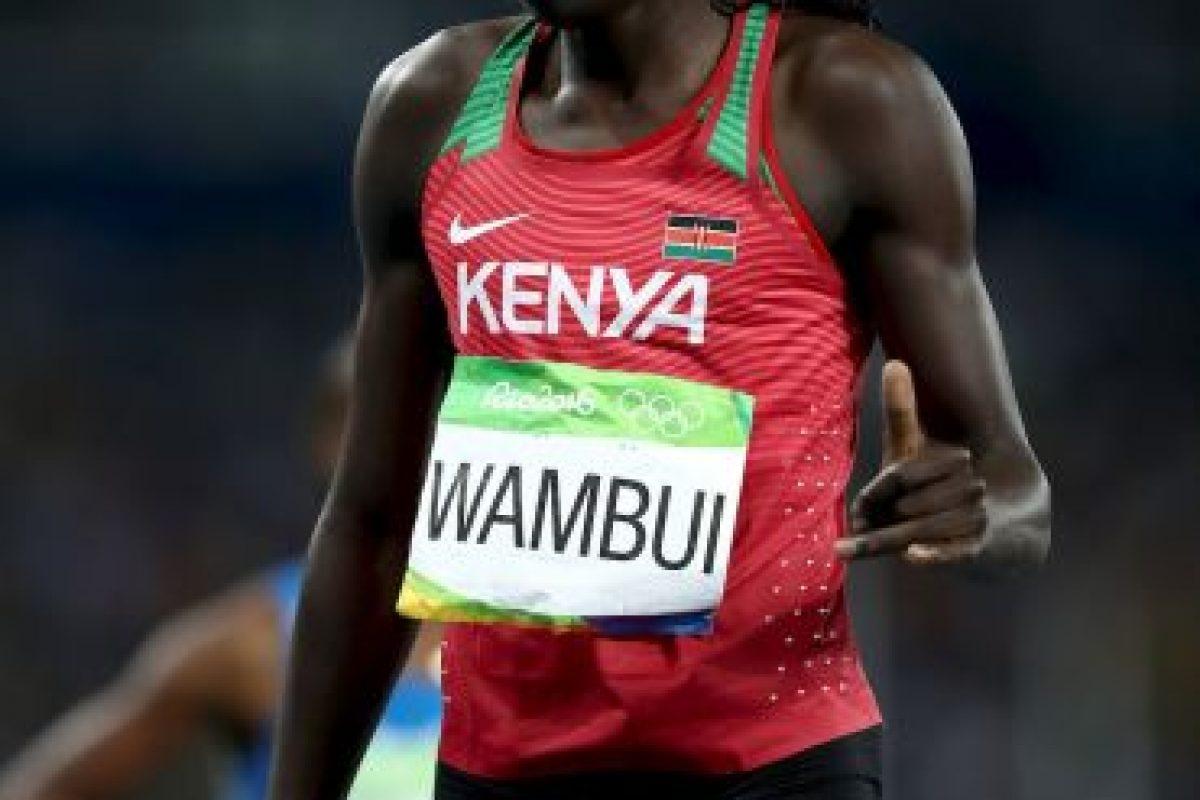Y Margaret Wambui, ganadora de bronce en los 800 metros en Río 2016 Foto:Getty Images. Imagen Por: