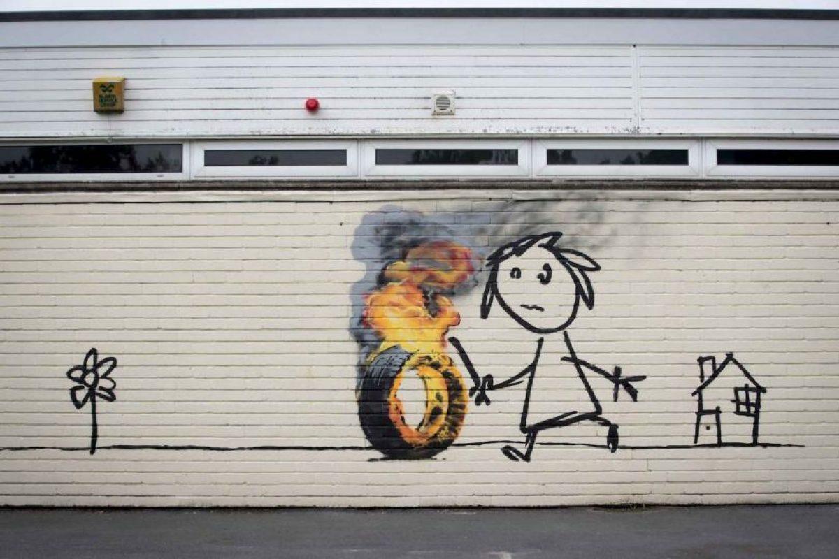 Algunas obras de Banksy Foto:Getty Images. Imagen Por: