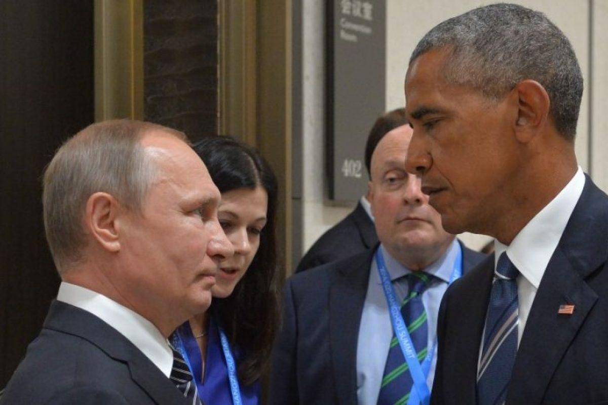 Este fue el momento entre Vladimir Putin y Barack Obama Foto:AFP. Imagen Por: