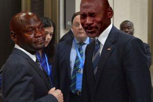 O pusieron a otros memes, como los de Michael Jordan llorando Foto:Imgur. Imagen Por: