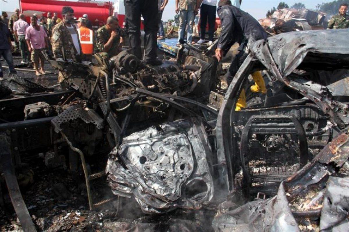 El ataque más sangriento se cometió en un puente de los alrededores de Tartús, y causó 30 muertos y 45 heridos. Foto:Efe. Imagen Por: