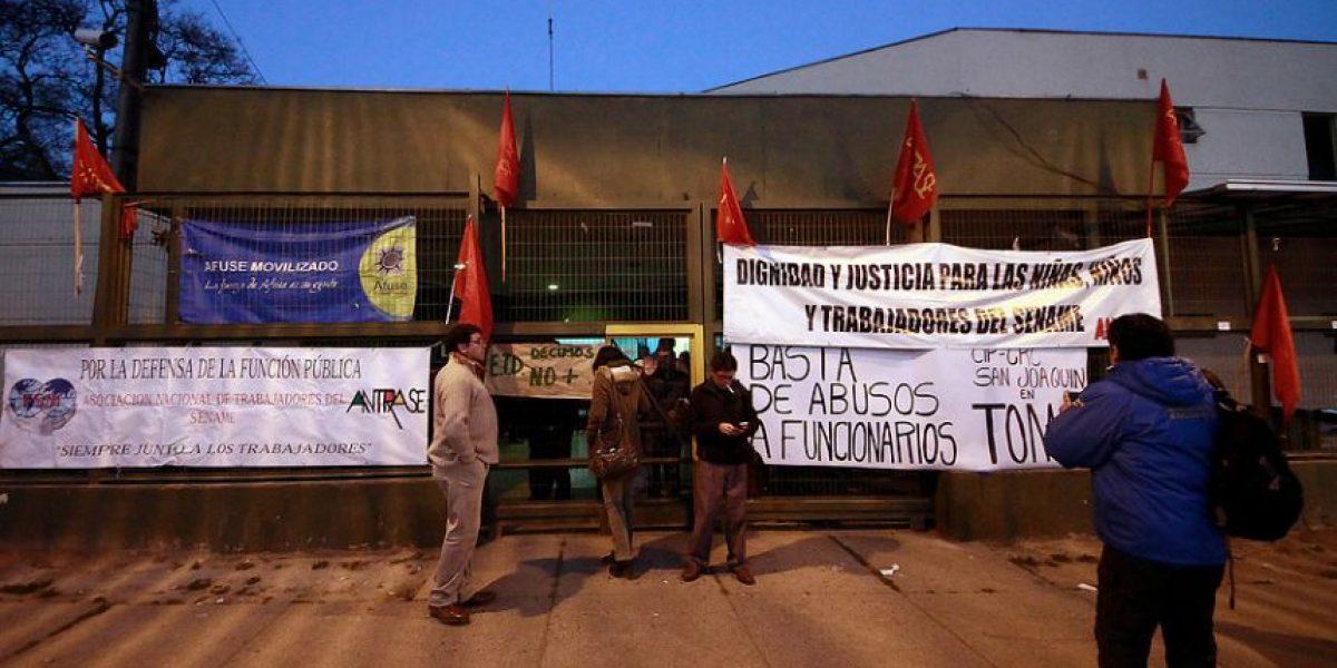 Funcionarios del Sename se tomaron centro de San Joaquín
