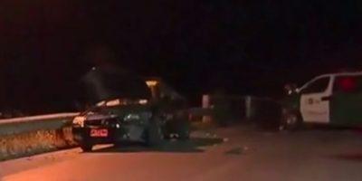 Chocaron a una patrulla: robo de taxi terminó con persecución en Lampa
