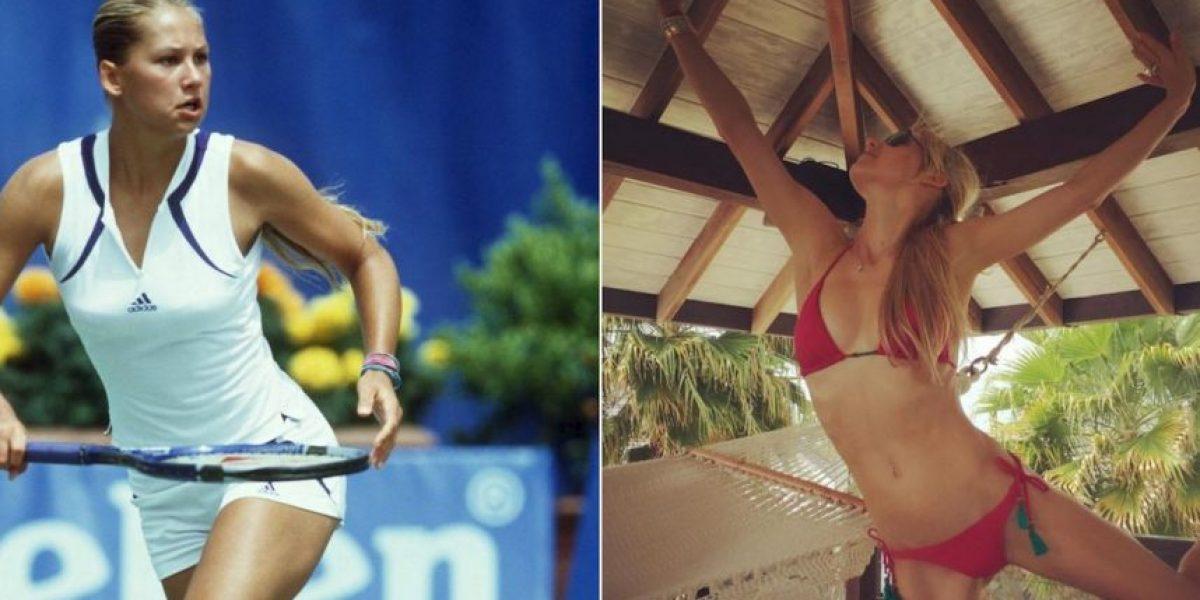 Anna Kournikova sorprende con su extrema delgadez