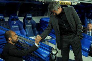 "Pep dirige a Manchester City y ""Mou"" es el timonel del Manchester United Foto:Getty Images. Imagen Por:"