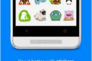 Y los stickers en la app oficial. Foto:Facebook. Imagen Por: