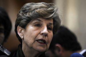 """También desde el Partido Socialista, la senadora Isabel Allende declaró tener """"total disponibilidad para competir"""". Foto:Agencia UNO. Imagen Por:"""