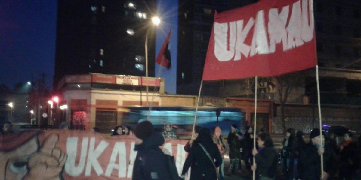 Manifestantes del movimiento Ukamau volvieron a cortar el tránsito en la Alameda