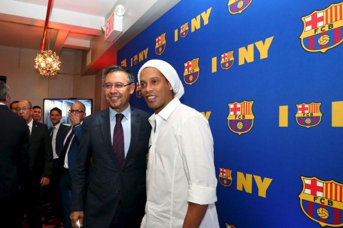 Lo hizo en el acto en el que fue nombrado embajador de Barcelona en Estados Unidos Foto:Instagram. Imagen Por: