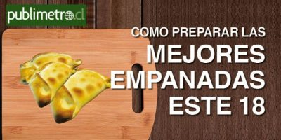 Infografía: Cómo preparar las mejores empanadas este 18