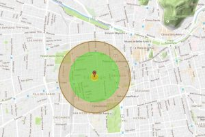 Así sería el daño si la bomba fuera lanzada sobre Santiago. Foto:Reproducción. Imagen Por: