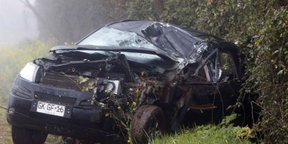 Así quedó el vehículo en que murió el alcalde de Río Claro