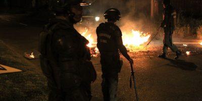 Disturbios y un carabinero herido marcan la noche de este 11 de septiembre