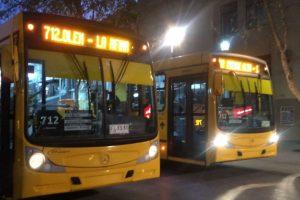 Al igual como fue con el servicio 213e en noviembre pasado, el recorrido 112 cambia de operador y comienza a funcionar con nuevos buses, a partir del próximo 24 de septiembre. Foto:ReproducciónTwitter Ministerio de Transportes. Imagen Por: