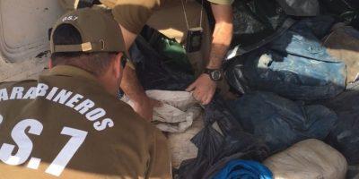 Carabineros incauta mil millones de pesos en droga que sería vendida en Fiestas Patrias