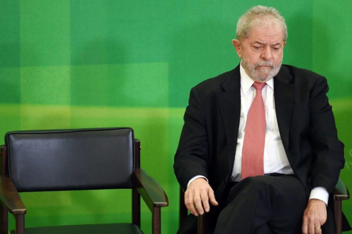 """El ex Presidente de Brasil fue acusado por la Fiscalía de ser el """"comandante máximo"""" de la red de corrupción de Petrobrás. Foto:Afp. Imagen Por:"""