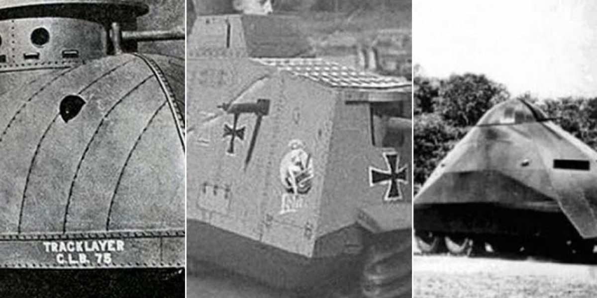 A 100 años del estreno del tanque, recordamos algunos de los modelos más extraños
