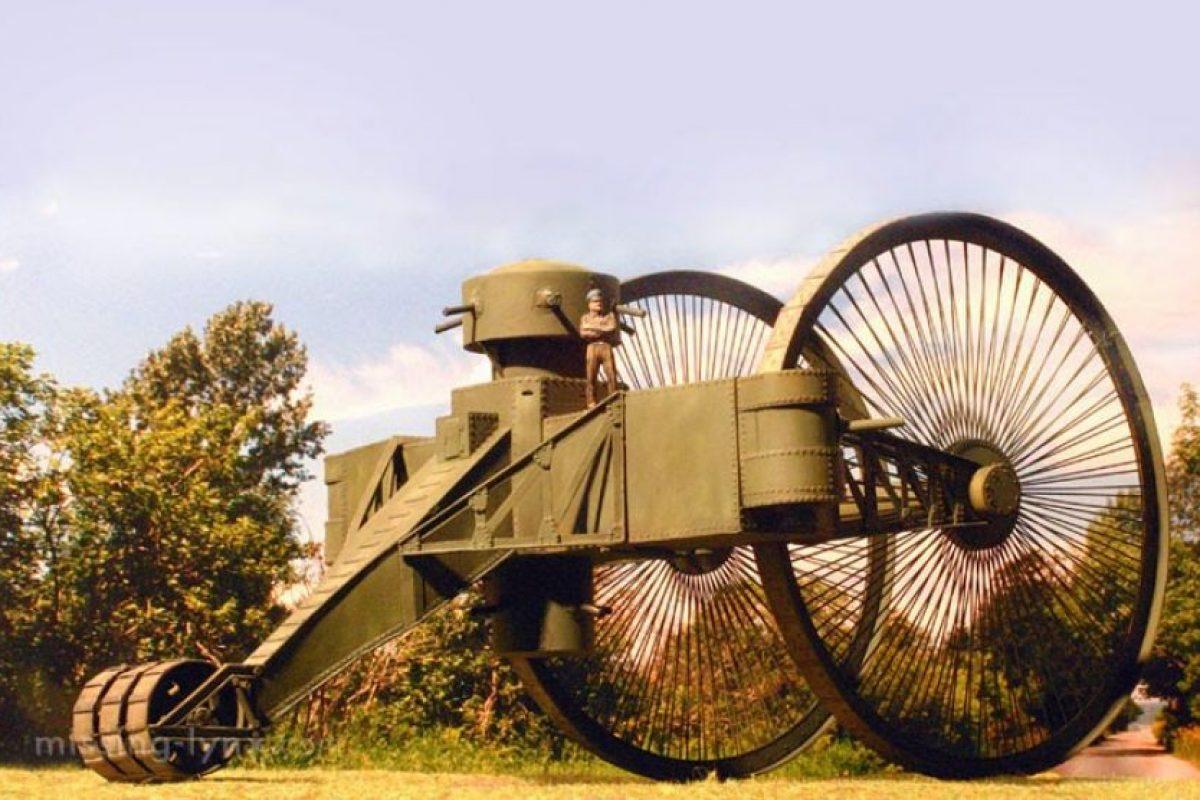El tanque del Zar: fue un vehículo de grandes dimensiones que sólo quedó como prototipo. Pesaba 40 toneladas y su alto costo lo transformó en un fracaso. Nunca estuvo en combate.. Imagen Por: