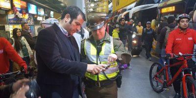 Alcalde de Estación Central presenta plan de seguridad en terminales de buses por Fiestas Patrias