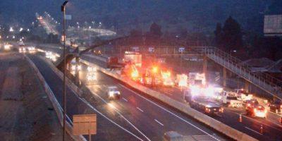 Volcamiento de camión genera alta congestión en antiguo peaje Angostura