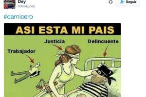 Twitter Foto:Piden la liberación del carnicero. Imagen Por: