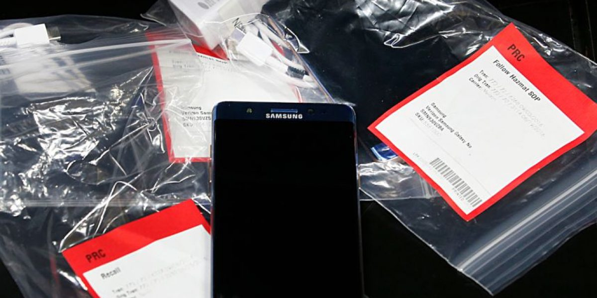 Ordenan retirar en EEUU un millón de teléfonos Samsung Galaxy Note 7 por riesgo de explosión