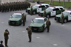 """El jefe regional señaló que """"estos vehículos van a permitir un combate más efectivo a la delincuencia. Nosotros como región hemos ido avanzando. Foto:Aton. Imagen Por:"""