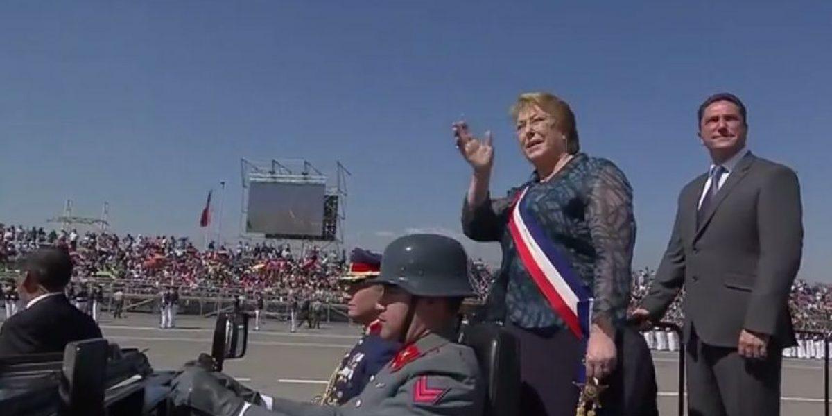 Así fue el arribo de la Presidenta Bachelet al Parque O