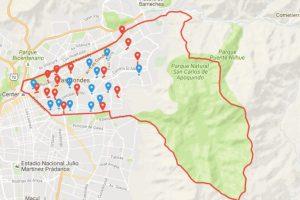 Foto:Reproducción mapa Servel. Imagen Por:
