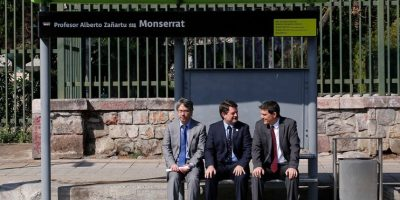 Autoridades inspeccionan avances de mejoramiento de paradas del Transantiago