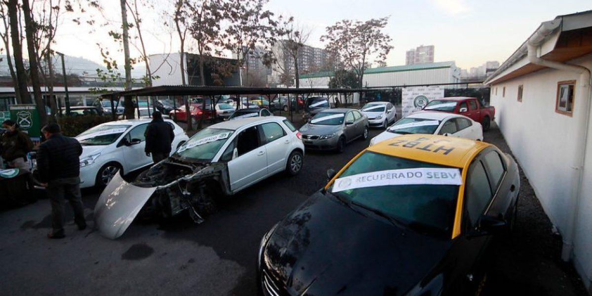 Carabineros informa que cifra de vehículos robados cayó un 5,5% entre 2015 y 2016