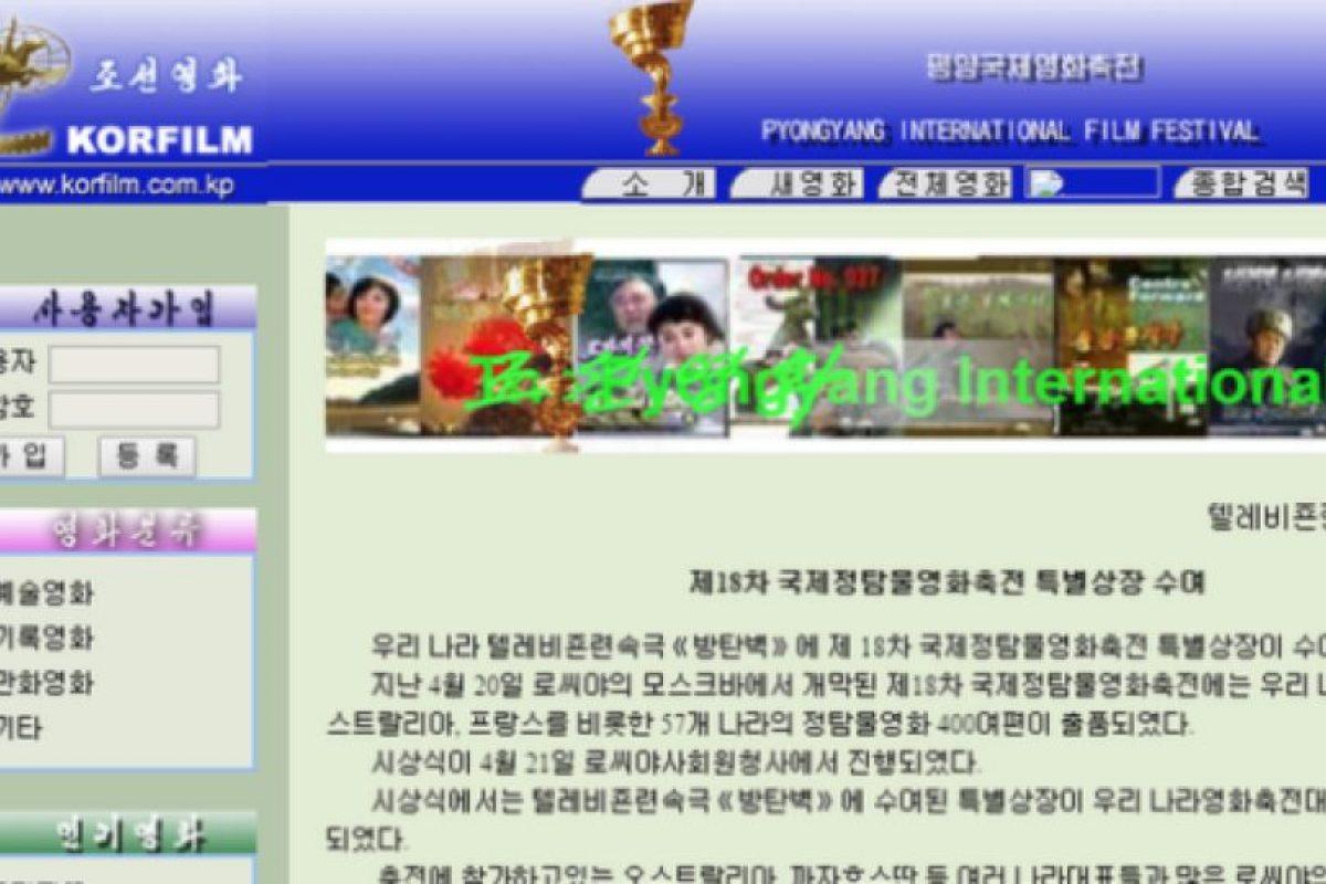 Una web sobre cine norcoreano Foto:Reproducción. Imagen Por: