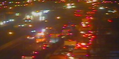 Accidente de tránsito protagonizado por vehículo de la PDI generó congestión en Vespucio Sur