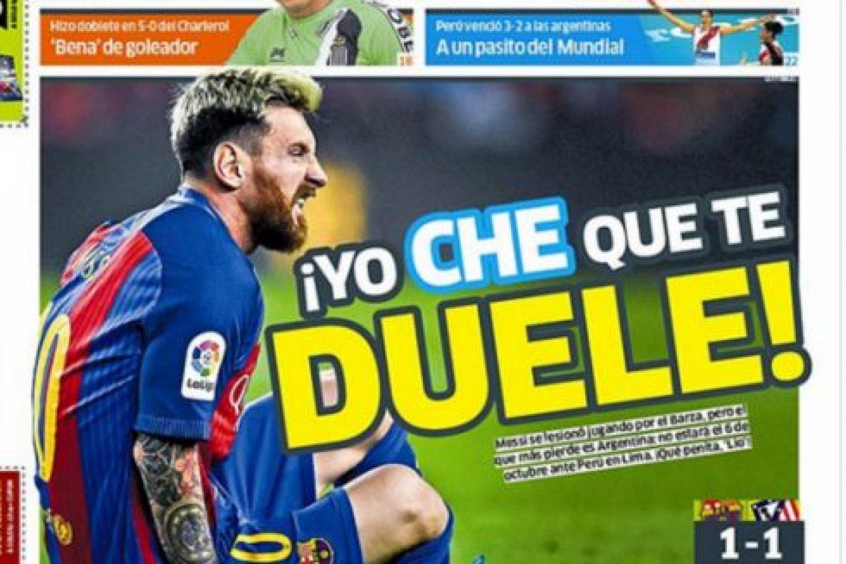 Los diarios peruanos se rieron de la lesión de Messi, quien estará tres meses fuera Foto:Reproducción. Imagen Por: