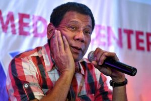 Rodrigo Duterte, presidente de Filipinas, es conocido por su fuerte lenguaje Foto:Getty Images. Imagen Por: