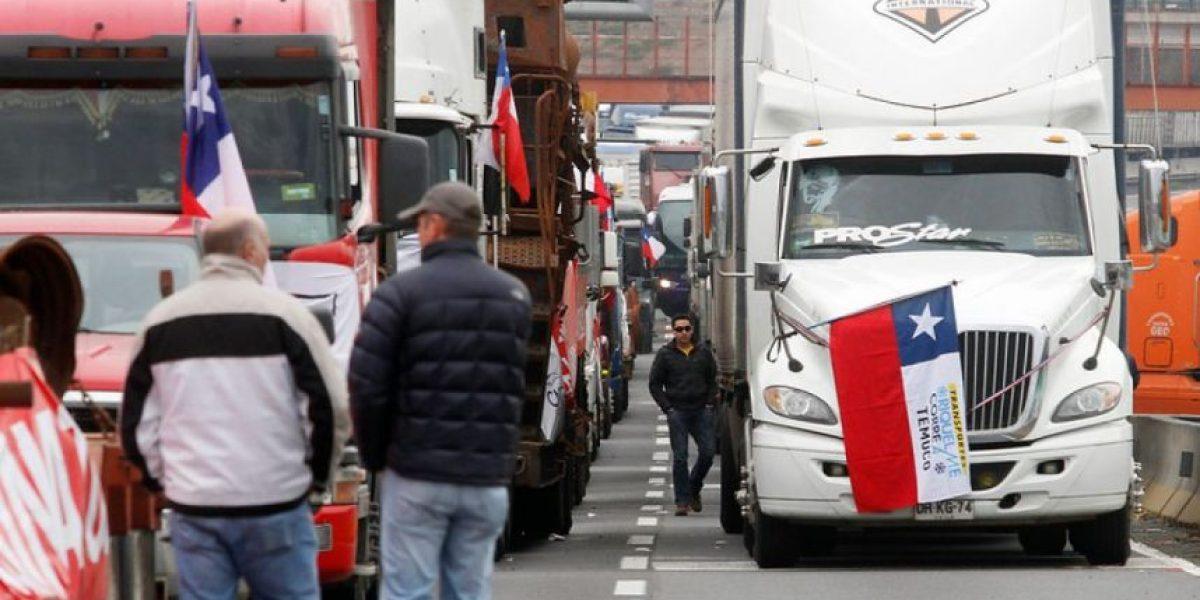 Camioneros pedirán que se decrete estado de excepción en zonas de la Región de La Araucanía
