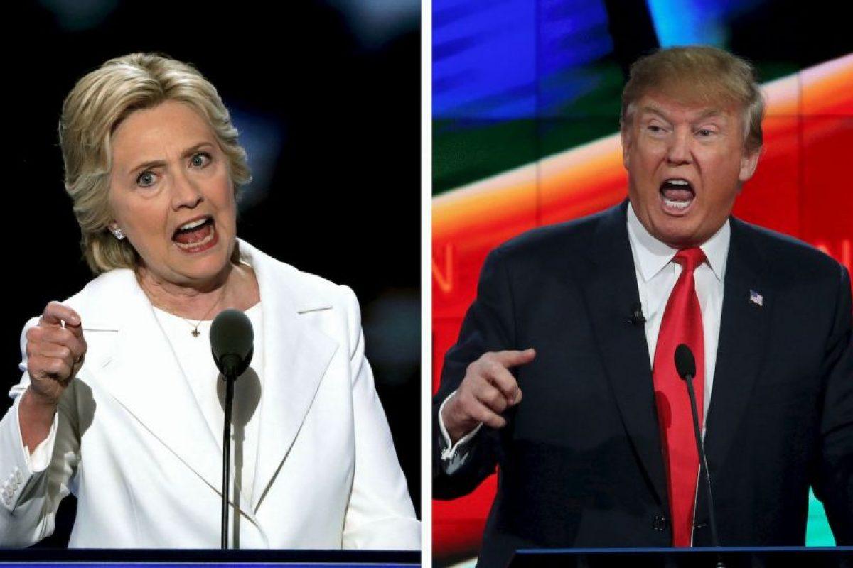 Hillary Clinton y Donald Trump se enfrentarán en una semana en el primer debate presidencial Foto:Getty Images. Imagen Por: