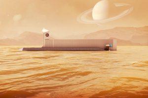 El diseño de la NASA para un submarino robótico capaz de explorar los mares de Titán, la luna de Saturno. / NASA. Imagen Por: