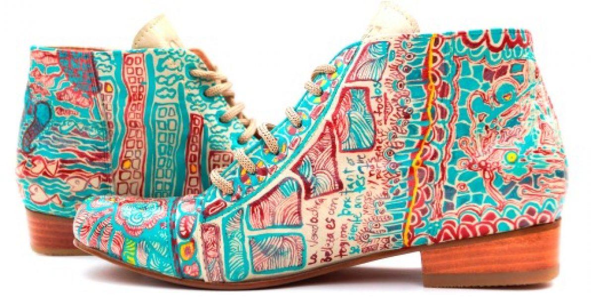 Diseñadoras mapuche exportarán zapatos